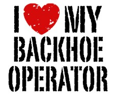 I Love My Backhoe Operator  t-shirt