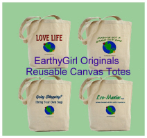 Eco-Friendly Earthy Girl Reusable Tote Bags