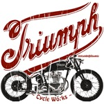 Triumph Cycle Works on green