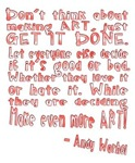 Andy Warhol Artist Quote