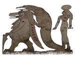 Egyptian,Hippo,Croc & Isis