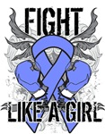 Stomach Cancer Ultra Fight Like a Girl Shirts