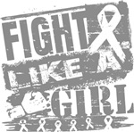 Brain Cancer Burnout Fight Like a Girl Shirts