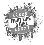 Fight Like a Girl Diabetes Splatter Shirts