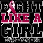 Head Neck Cancer Sporty Fight Like a Girl Shirts
