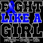 Colon Cancer Sporty Fight Like a Girl Shirts