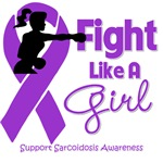 Sarcoidosis Fight Like A Girl Knockout Shirts