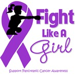 Pancreatic Cancer Fight Like A Girl Knockout Shirt