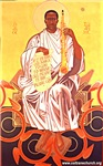 St. John:enthroned icon