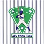 Personalized Blue Baseball Player