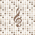 Earth Tone clef on tiled pink