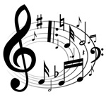 musical notes round