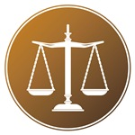 Scales of Justice (Brown Background)