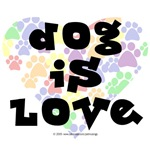 Dog is love, color