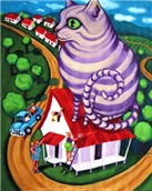 Cat on a Red Tin Roof