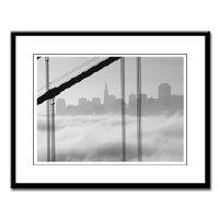 black + white urban skylines San Francisco photos