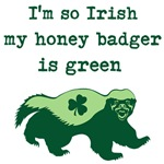 Funny Green Honey Badger