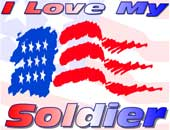 Love My Soldier gifts & apparel