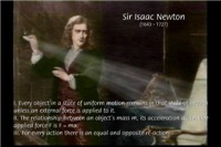 Sir Isaac Newton: Laws of Motion