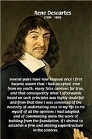 Rene Descartes: skepticism, New Foundations