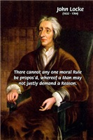 Moral Philosophy John Locke: Morality & Reason