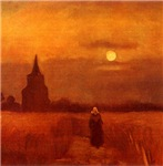 Old Tower in Fields by Van Gogh