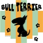 Bull Terrier Green/Orange Stripe