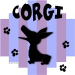 Welsh Corgi Blue/Purple Stripe