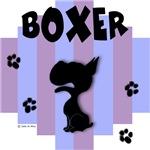 Boxer Blue/Purple Stripe