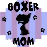 Boxer Mom Blue/Purple Stripe
