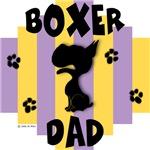 Boxer Dad Yellow/Purple Stripe