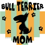 Bull Terrier Mom - Green/Orange Stripe