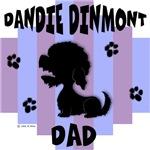 Dandie Dinmont Terrier Dad - Blue/Purple Stripe