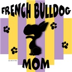 French Bulldog Mom - Yellow/Purple Stripe