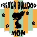 French Bulldog Mom - Green/Orange Stripe
