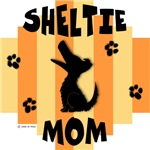 Sheltie Mom - Yellow/Orange Stripe