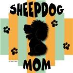 Sheepdog Mom Green/Orange Stripe