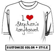 I Love Stephen's longboard
