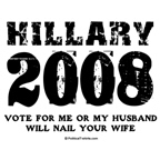 Hillary 2008: Vote for me