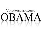 Voto para el cambio: Obama