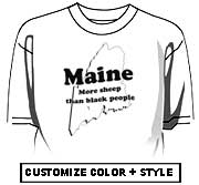 Maine - We have more sheep than black people