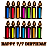 Happy 7/7 Birthday with Candles
