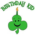 Birthday Kid with Shamrock