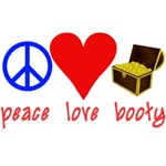 Peace Love Booty Pirate Tshirt