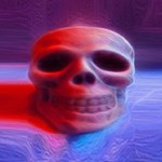 Creepy Skull Large