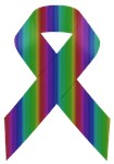 Rainbow Awareness Ribbon B