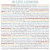 Products with all 50 Life Lessons