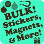 Bulk Stickers Magnets Ornaments Gifts