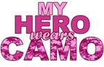 My Hero Wears Camo. Pink NAVY