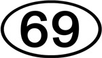 Number 69 Oval (Black)